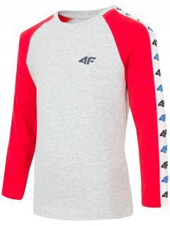 Tricou cu mânecă lungă pentru copii mici (băieți) JTSML106 - roșu