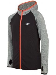 Tricou de sport cu mânecă lungă pentru copii mari (băieți) JTSML403 - gri mediu melanj