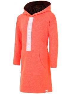 Rochie de sport pentru copii mari (fete) JSUDD203 - portocaliu neon