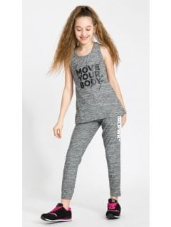 Tricou de sport pentru adolescente JTSD402B - gri