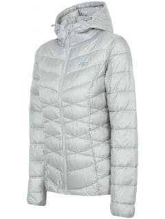 Jacheta din puf pentru femei KUDP211 - argintiu