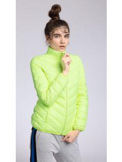 Jacheta din puf pentru femei KUD002 - galben