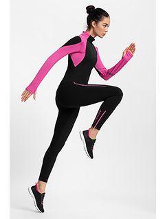 Colanți funcționali pentru femei 4FPro Skirunning SPDF400 - negru