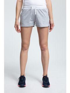 Pantaloni scurți de antrenament pentru femei SKDD003 - gri deschis