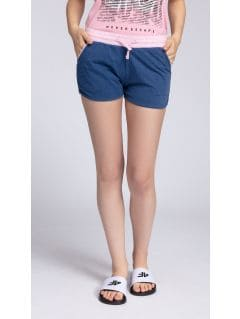 Pantaloni scurți de antrenament pentru femei SKDD003 - bleumarin