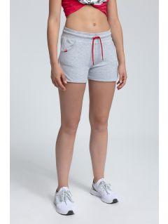Pantaloni scurţi de molton pentru femei SKDD300 - gri