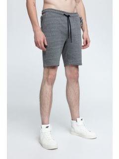 Pantaloni scurţi de molton pentru bărbaţi SKMD301 - melanj gri  închis
