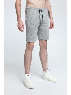 Pantaloni scurţi de molton pentru bărbaţi SKMD301 - gri înspicat mediu