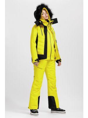 Jachetă de schi pentru femei KUDN161A - galben