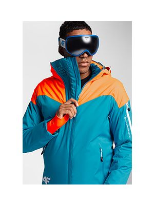 Jachetă de schi pentru bărbați KUMN152 - turcoaz