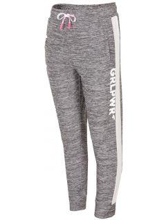 Pantaloni de antrenament pentru fetiţe JSPDTR300 - gri deschis