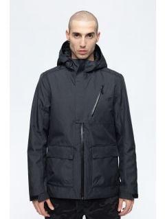 Jachetă de oraș pentru bărbați KUM205 - negru melanj