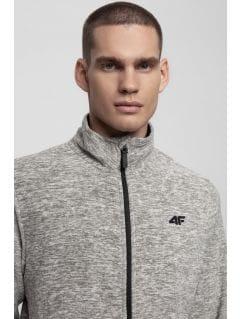 Bluza din fleece pentru barbați PLM300 - gri înspicat lumină