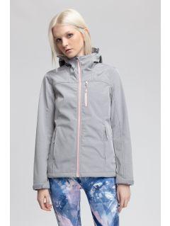 Jacheta softshell pentru femei SFD215 - gri înspicat lumină