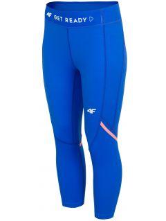 Colanți de alergare pentru femei SPDF100 - cobalt