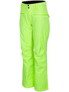 Pantaloni de schi pentru femei SPDN270 - galben deschis neon
