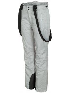 Pantaloni de schi pentru femei SPDN300 - gri înspicat lumină melanj