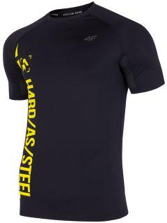 Tricou de antrenament pentru bărbați TSMF152 - negru profund allover