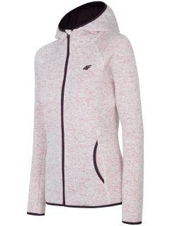 Bluză din fleece pentru femei PLD002 - roz deschis melanj