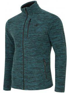 Bluza din fleece pentru bărbați PLM001 - verde marin melanj