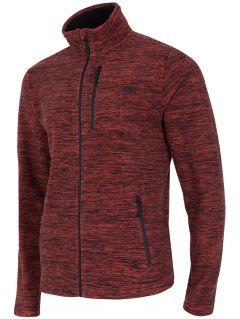 Bluza din fleece pentru barbați PLM001 - roșu melanj