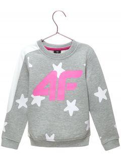 Bluza pentru copii mici (fete) JBLD102 - gri înspicat lumină  melanj