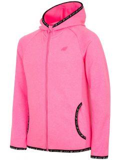 Bluza din fleece pentru copii mari (fete) JPLD400 - fuxie