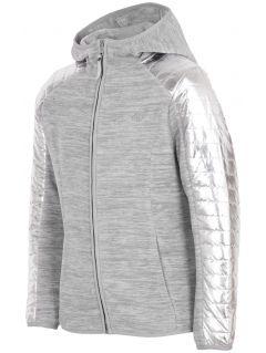 Bluza din fleece pentru copii mari (fete) JPLD401 - gri melanj