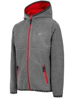 Bluza din fleece pentru copii mari (băieți) JPLM400 - gri