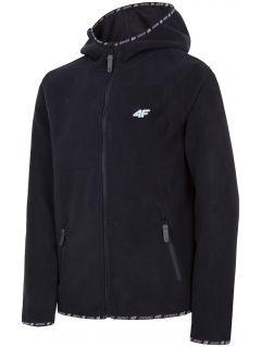 Bluză din fleece pentru copii mari (băieți) JPLM401 - negru