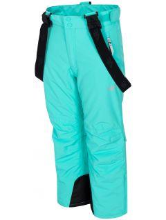 Pantaloni de schi pentru copii mari (fete) JSPDN401 - mentă