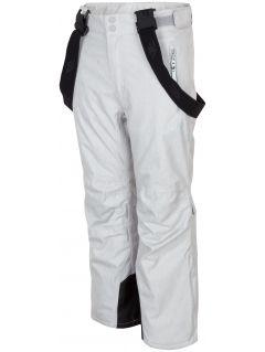 Pantaloni de schi pentru copii mari (fete) JSPDN401A - gri melanj