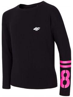 Tricou cu mânecă lungă pentru copii mari (fete) JTSDL209 - negru