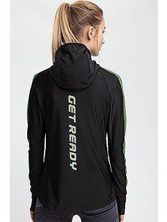 Bluza de antrenament pentru femei BLDF200 - negru profund