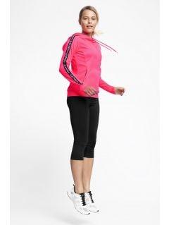 Bluza de antrenament pentru femei BLDF201 - coral neon