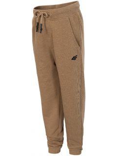 Pantaloni de molton pentru copii mari (băieți) JSPMD204 - maro melanj