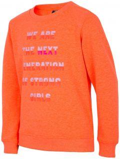 Bluza pentru copii mari (fete) JBLD204 - portocaliu neon