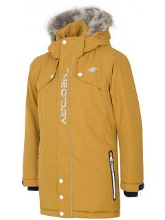 Jacheta de oraș pentru copii mari (băieți) JKUM201 - maro deschis