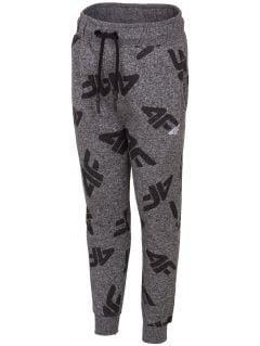 Pantaloni de molton pentru copii mici (băieți) JSPMD103 - gri închis melanj
