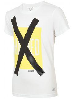 Tricou pentru copii mari (băieți) JTSM206 - alb