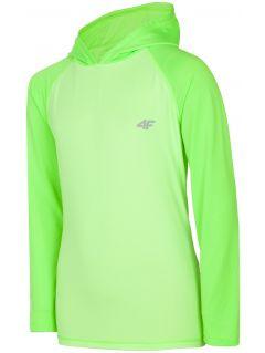 Tricou de sport cu mânecă lungă pentru copii mari (băieți) JTSML401 - verde deschis neon