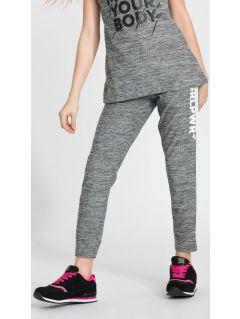 Pantaloni de antrenament pentru adolescente JSPDTR400 - gri