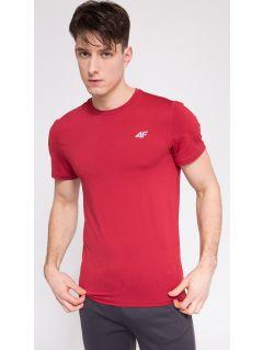 Tricou de antrenament pentru bărbaţi TSMF301 - roşu melanj
