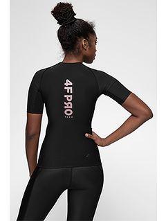 Tricou de compresie pentru femei 4FPro TSDF400A - negru