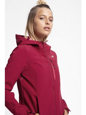 Jacheta softshell pentru femei SFD215 - roșu închis