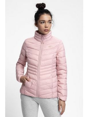 Jacheta cu puf pentru femei KUDP210 - roz deschis