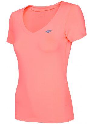 Tricou de antrenament pentru femei TSDF300 - somon neon