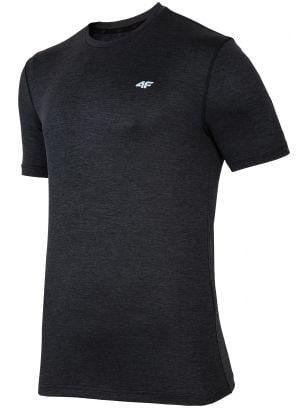 Tricou de antrenament pentru bărbați TSMF301 - negru melanj