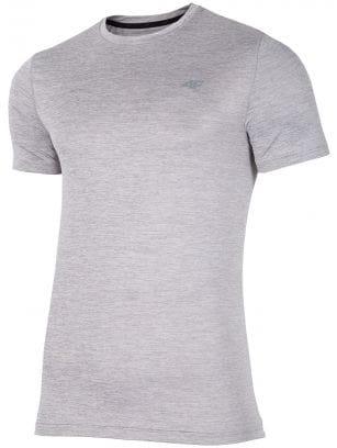 Tricou de antrenament pentru bărbați TSMF301 - gri deschis melanj