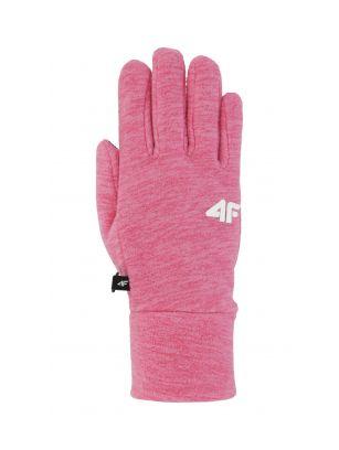 Mănuși pentru copii mari (fete) JRED200 - fuxie melanj